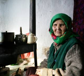 Older woman in Kyrgyzstan.
