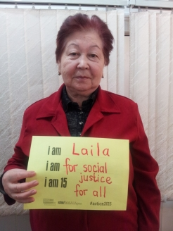 ADA steering group member and campaigning champion, Laila