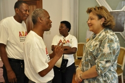 ADA activists in Haiti met First lady, Sophia Martelly, to put forward their demands for older people's rights