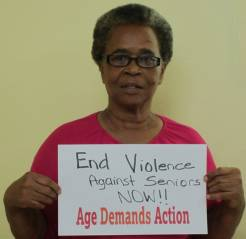 An ADA campaigner in Jamaica demands an end to elder abuse.