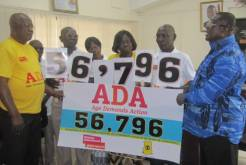 In Ghana, the Deputy Minister of Employment and Social Welfare, receives the ADA petition before attending the OEWG.