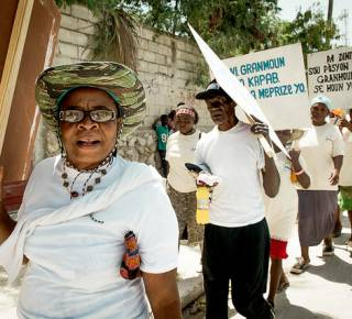 Age Demands Action campaigners in Haiti. (c) HelpAge International