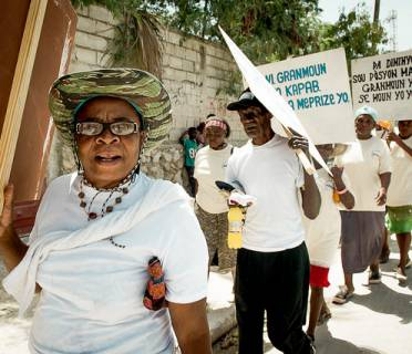 Older campaigners in Haiti demand their rights.