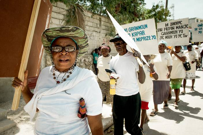 Older campaigners in Haiti.