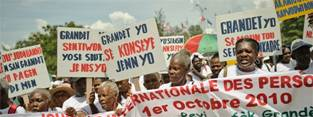 Older people in Haiti campaign for their rights