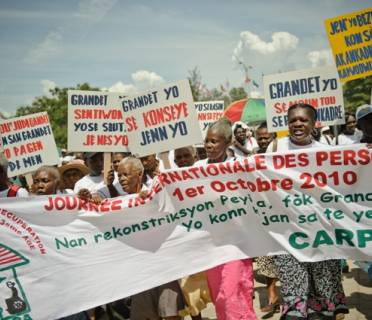 Age Demands Action campaigners in Haiti