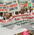 Older people in Haiti campaign for their rights (c) HelpAge International