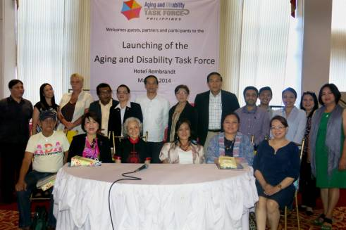 Guests and presenters at the Aging and Disability Task Force in Manila