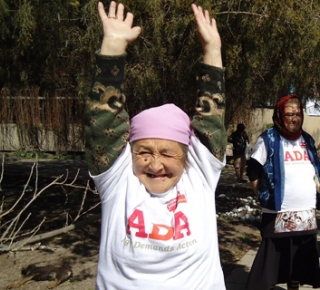 An enthusiastic Age Demands Action activist from Kyrgyzstan is all in for an active health lifestyle. (c) HelpAge International