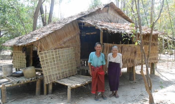 Aphee Ohn Kyi and her husband had a new house built for them by their Older People's Self Help Group.