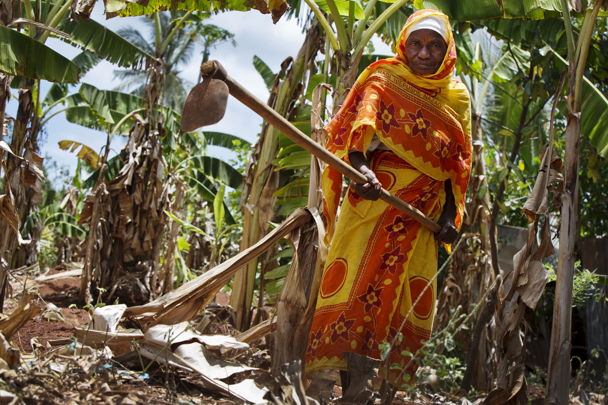 Asherjuma started a farming collective with money from her universal pension in Zanzibar (c) Kate Holt/Age International