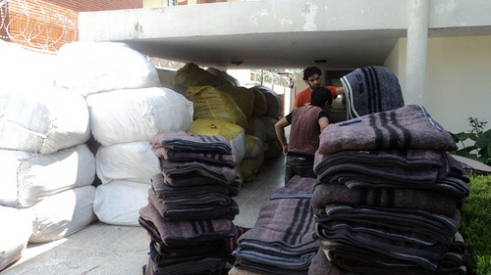 Blankets to be distributed in Pakistan