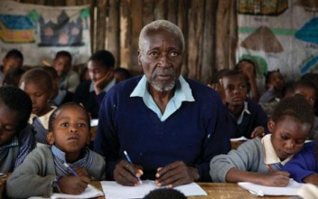 Oliver Litondo in The First Grader (photo from www.telegraph.co.uk)