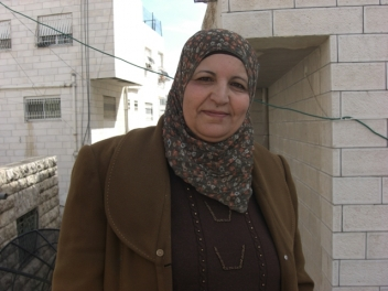 Fatima Mohammed Ahmad,50, a volunteer from a women's organisation in Taffouh