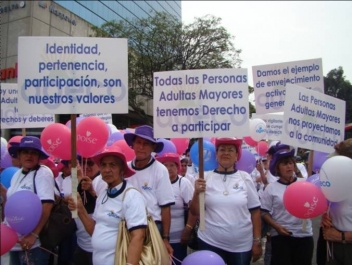Older activists march for their rights in Costa Rica