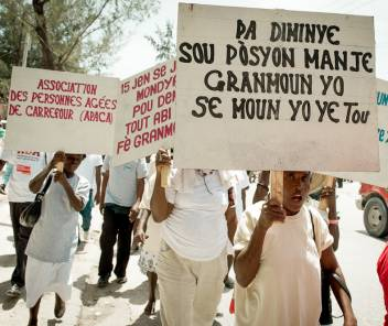 A march was organised in Haiti as part of ADA for Rights.