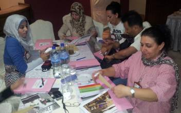 Participants at the Gaza HOPE - Helping Older People in Emergencies - training