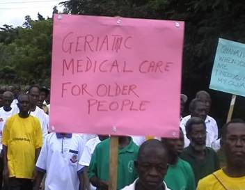 Older people demand adequate healthcare as part of Age Demands Action.