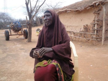 Abdiya Mohammoud Osman, 74 is a beneficiary of our food voucher programme