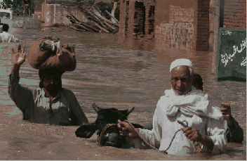 How do we link disasters, like the Pakistan floods, with development over the next ten years?