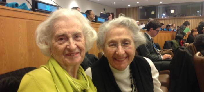 Mary Mayer with Helen Hamlin at the United Nations in New York, 2014 (c) HelpAge International