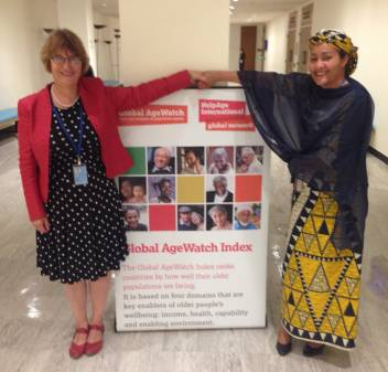 Sylvia with Amina Mohammed, Special Advisor of the Secretary-General on Post-2015 Development Planning, 9 September 2015