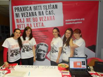 Students at a Make it Ageless event in Slovenia
