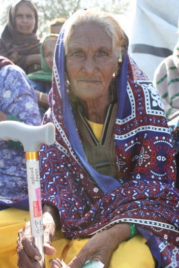 An older woman in Nowshera, Pakistan
