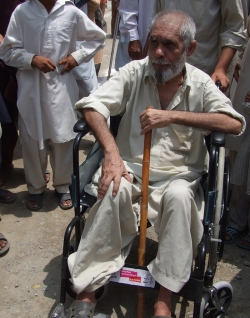 After the floods, we provided older people with wheelchairs. This helps them feel less isolated.