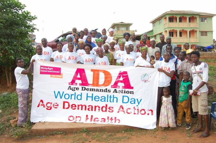 Age Nigeria Foundation campaigning on World Health Day