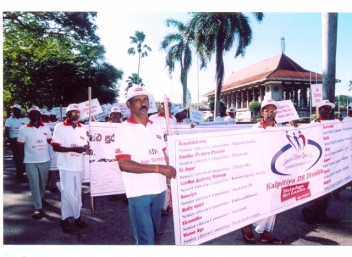 On the march, over 500 older people take to the streets of Colombo
