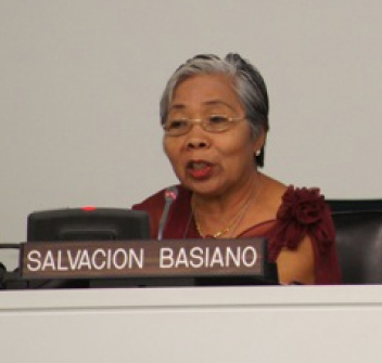 Salve talking at the UN working group last week