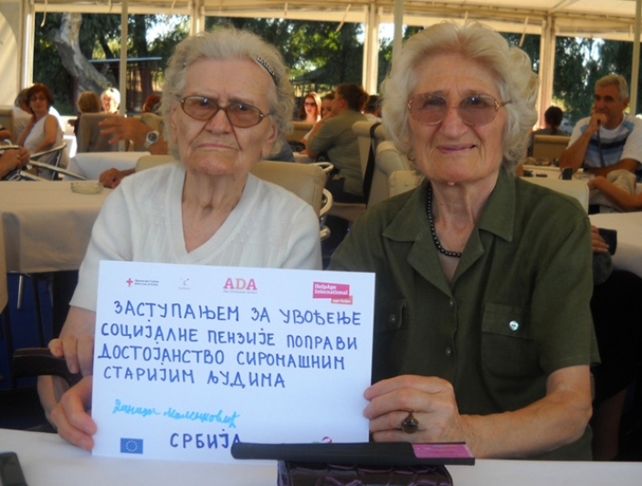 Age Demands Action campaigners in Serbia