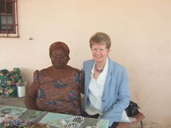 Me and one of the older people we spoke to in Ghana