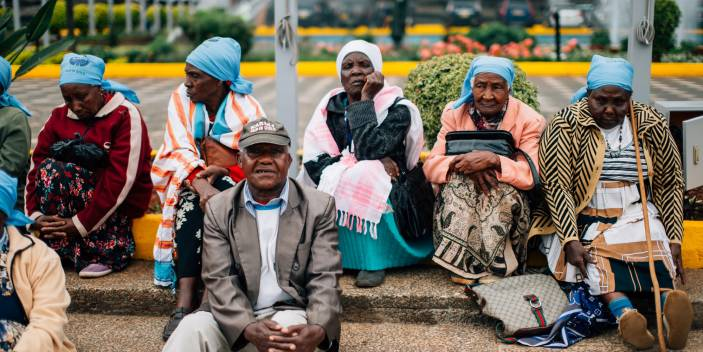 Older people in Kenya's capital Nairobi