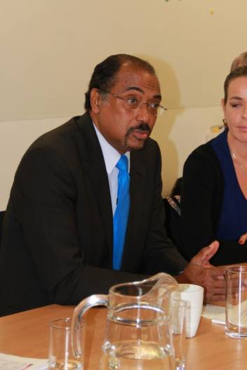 UN AIDS executive director Michel Sidibe at Tuesday's meeting