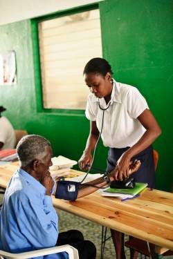 The HelpAge network supports active ageing across the world, including free clinics for older people in Haiti.