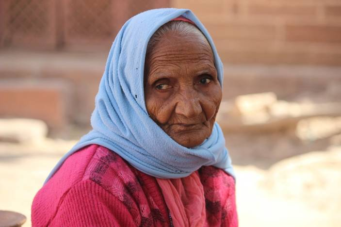 Older woman in India