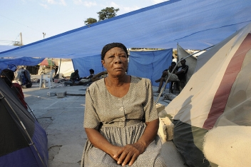 Thousands of people in Haiti are still living in tents and under tarpaulins, one year after the earthquake hit.