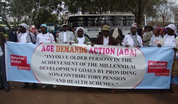 Age Demands Action activist march in Kenya