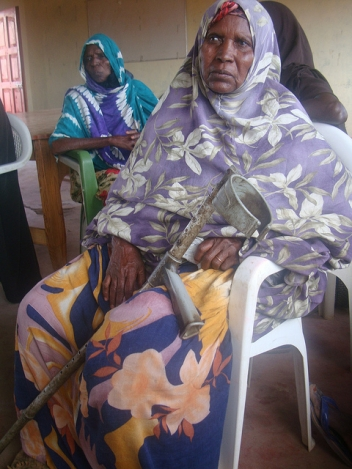 Hawo, 68, lost her leg after she was shot