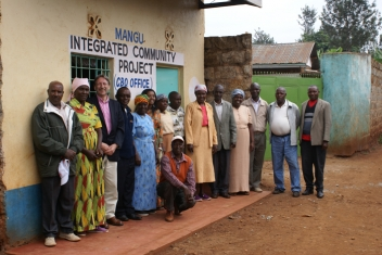 Outside the community project with some of the Mangu residents