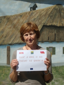 Mraija from Slovenia says: A rich society includes all generations