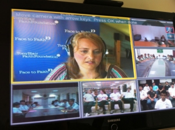 A snapshot of the video conference