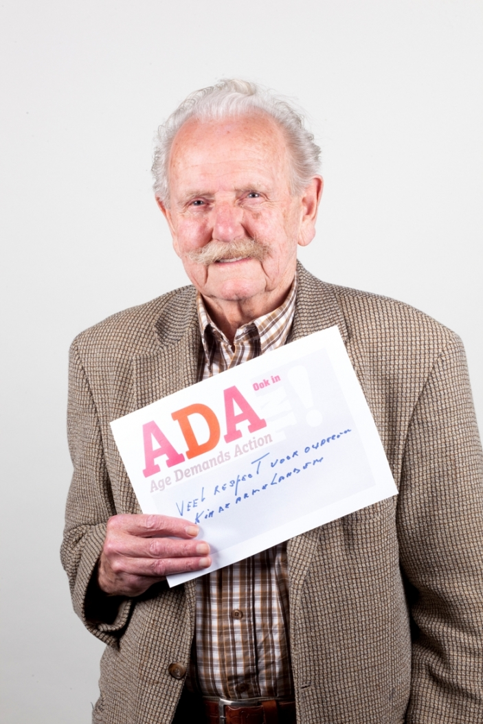 An ADA campaigner in the Netherlands.