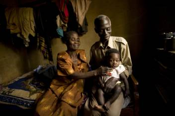 Zzizinga Barton,76 and Namale Zzizinga,56, Uganda care for their grandson Muhamed.