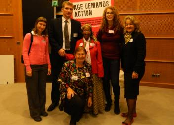 Me, Mama Rhoda (in the middle) and other activists from the Czech Republic at the EU in Brussels!