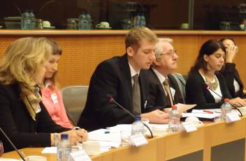 Me speaking at the European Parliament