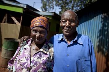 Paul Gakinya, 72, one of our older campaigners and his wife Mary.