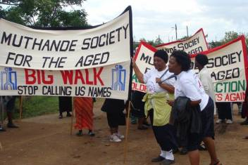 MUSA marching to promote older people's rights on 1 October. (c) MUSA